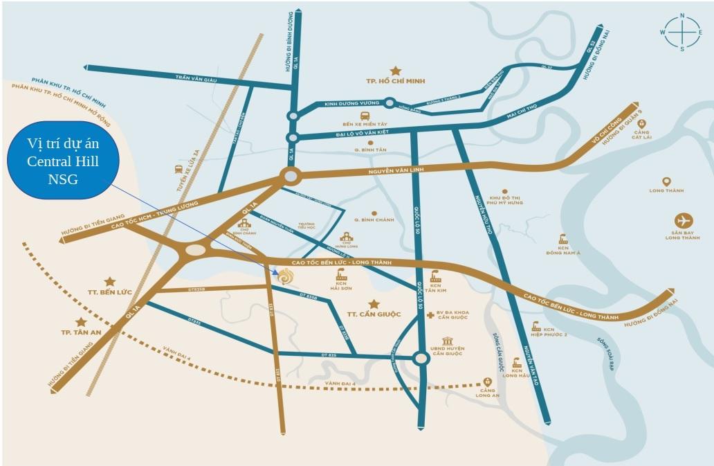 Vị trí dự án Central Hill Nam Sài Gòn