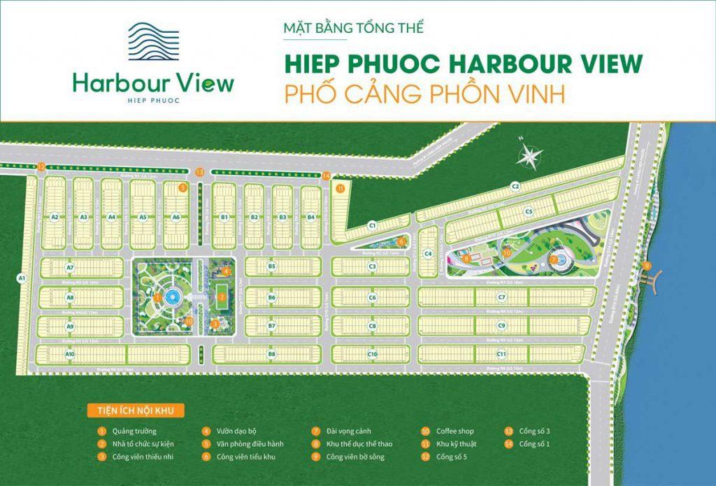 Mặt bằng khu dân cư Hiệp Phước Harbour View