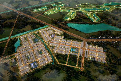 Sơ đồ phối cảnh mặt bằng phân lô khu đô thị Hưng Long Residence