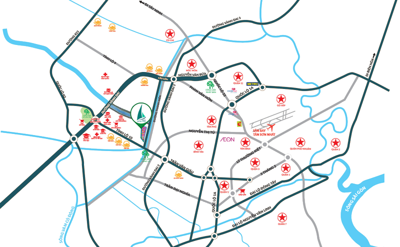 Bản đồ vị trí dự án Green Sailing Town