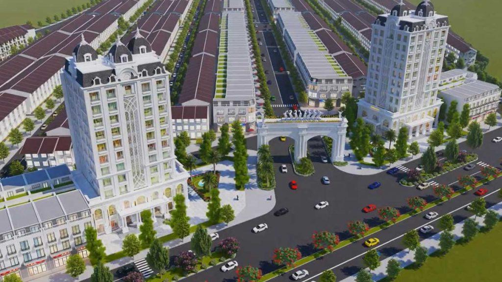 Sơ đồ phối cảnh tổng quan dự án Khu đô thị An Phú Long Garden