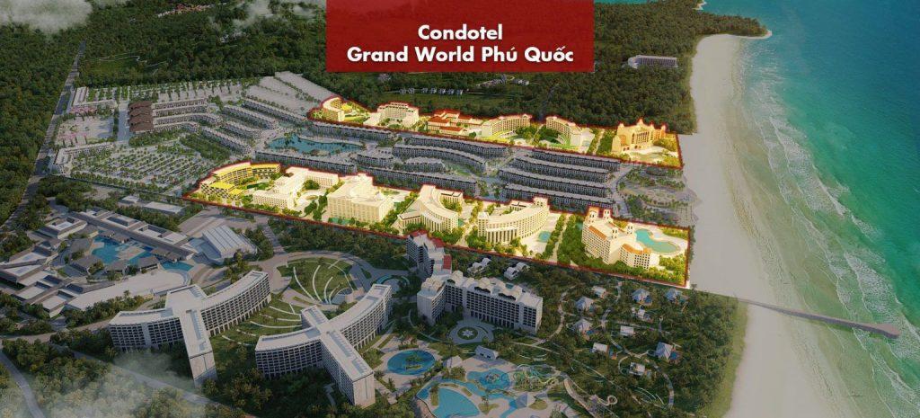 Phối cảnh khu Mallorca Shop Grand World Phú Quốc
