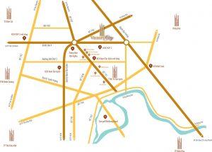 Vị trí dự án Vitory City Bình Dương