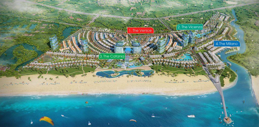 Mặt Bằng Venezia Beach – Luxury Residences & Resort