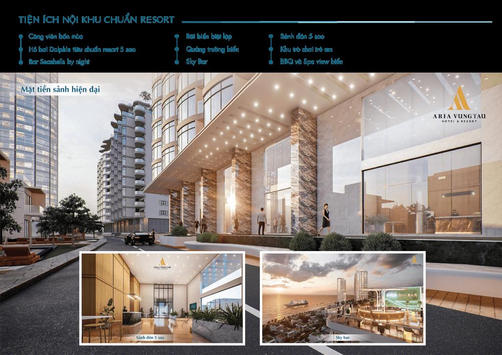 TIỆN ÍCH ARIA VŨNG TÀU HOTEL & RESORT