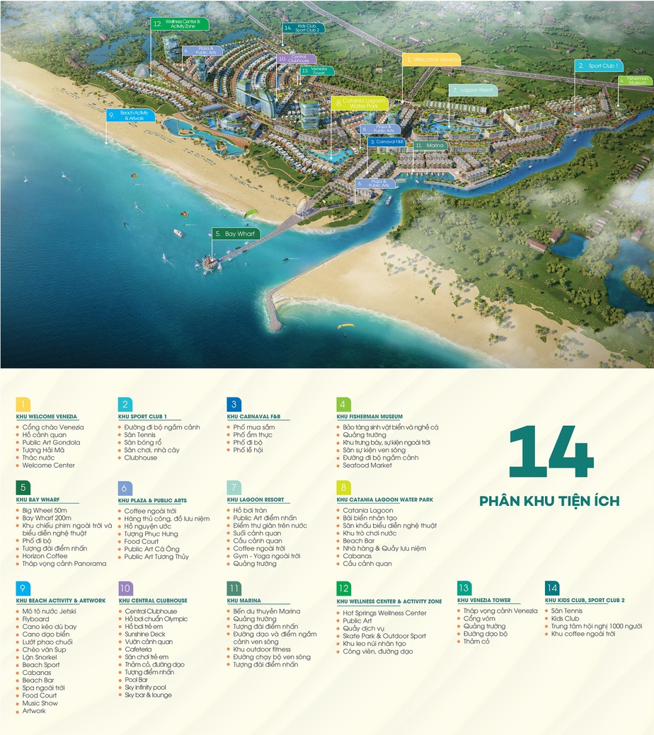 Tiện Ích Venezia Beach – Luxury Residences & Resort